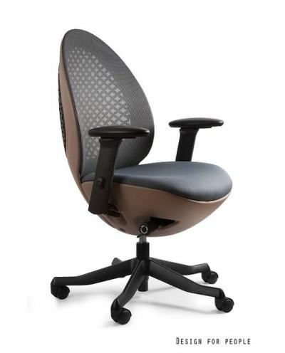 Ovo - Brązowe/szare - krzesło biurowe