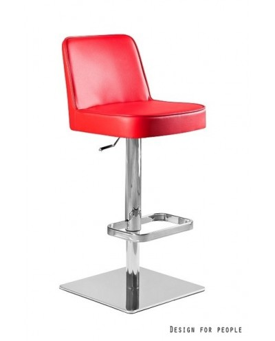 TANARO - Krzesło barowe czerwone