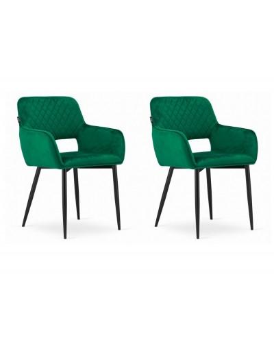 Zielone krzesła ALVIN aksamit tapicerowane krzesło 2szt