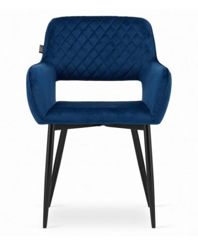 Niebieskie krzesła ALVIN aksamit tapicerowane krzesło 2szt