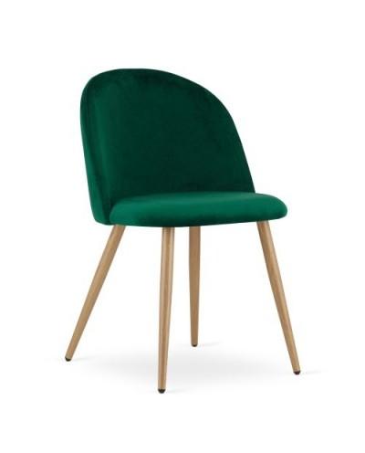 Zestaw krzeseł do jadalni INGAR zielony aksamit 4szt