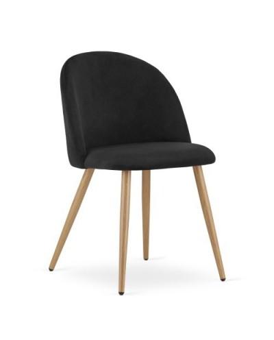 Zestaw krzeseł do jadalni INGAR czarny aksamit 4szt