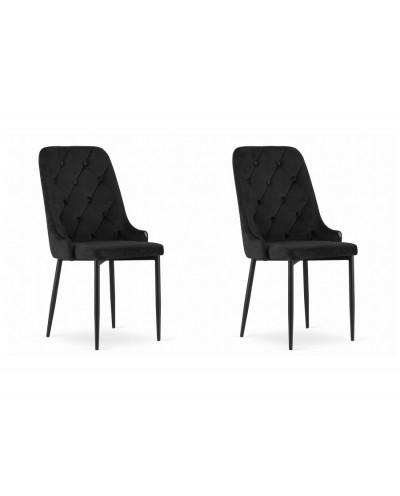 Krzesła do stołu WILLY czarne komplet 2szt
