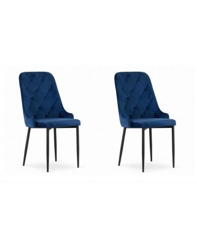 Krzesła do stołu WILLY granatowe komplet 2szt