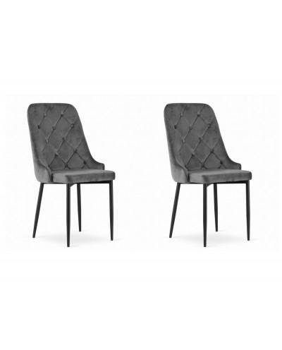 Krzesła do stołu WILLY szare komplet 2szt