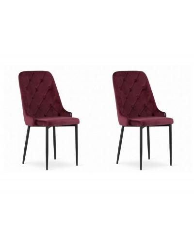 Krzesła do stołu WILLY bordowe komplet 2szt