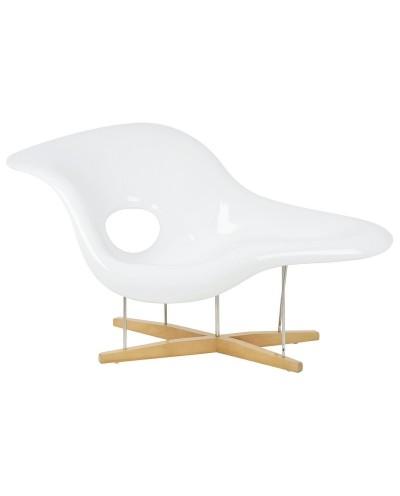 Fotel BIRD biały - włókno szklane, drewno, metal