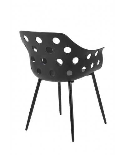 Krzesło JASON czarne - polipropylen, metal