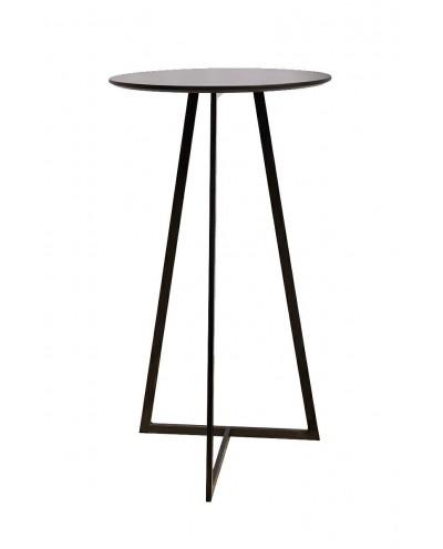 Stolik barowy ALLEN 60 czarny - MDF, metal