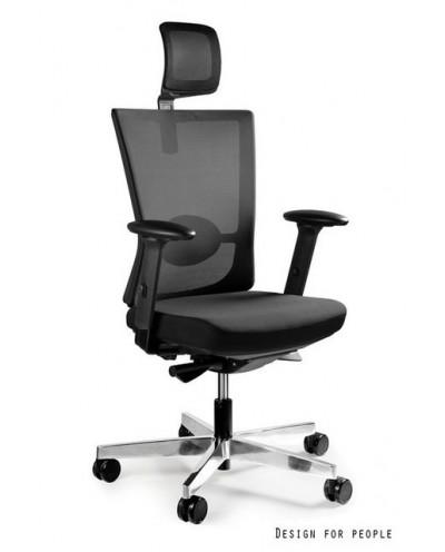 Fotel biurowy FORTE - regulowany zagłówek, podłokietniki
