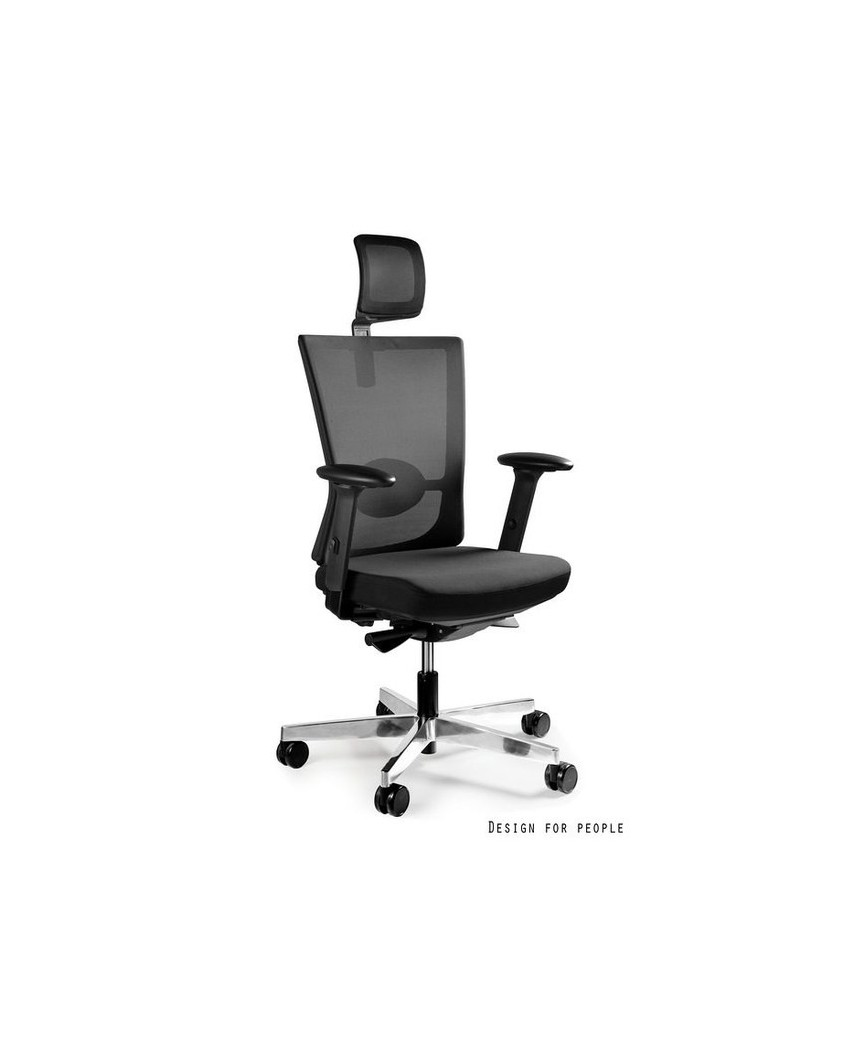 Forte - fotel biurowy - czarny