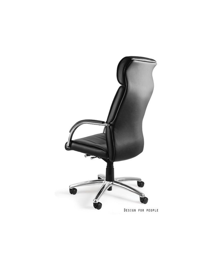 Czarny fotel biurowy BRANDO PU wysokie oparcie - eko skóra