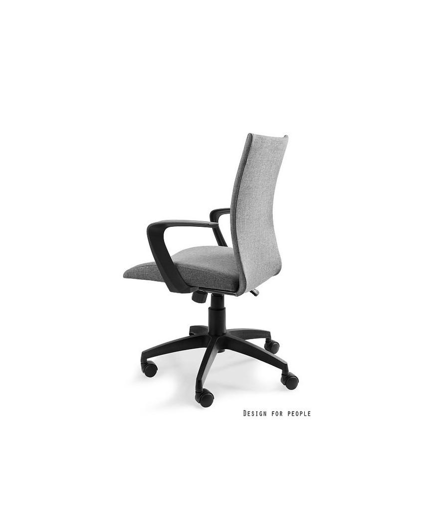 Szary fotel tilt MILLO biurowy obrotowy - Unique