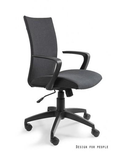 Czarny fotel tilt MILLO biurowy obrotowy - Unique