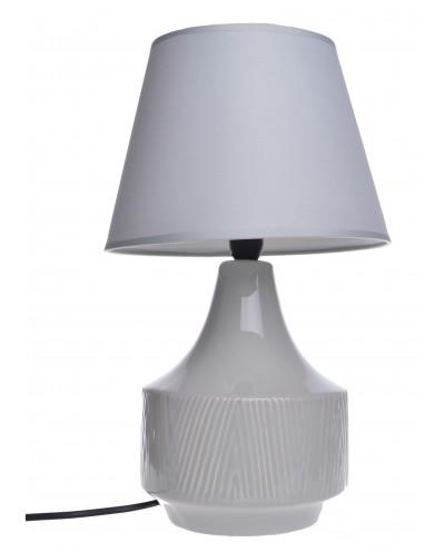 LAMPA CERAMICZNA BEŻOWA W PRĄŻKI
