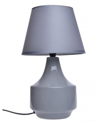 LAMPA CERAMICZNA SZARA W PRĄŻKI