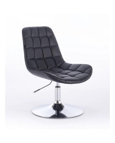 Niklas - Krzesło tapicerowane czarną ekologiczną skórą