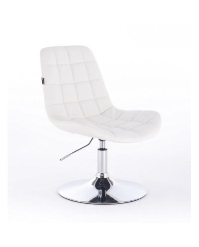 Niklas - Krzesło Tapicerowane Białą Ekologiczną Skórą
