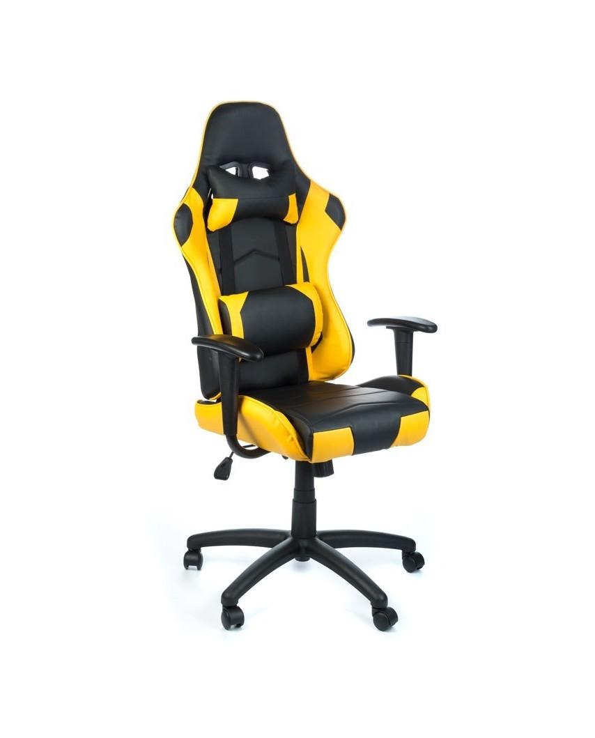 Fotel biurowy RACER CorpoComfort BX-3700 Żółty