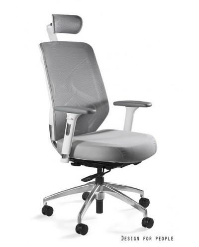HERO - Fotel biurowy biały tkanina