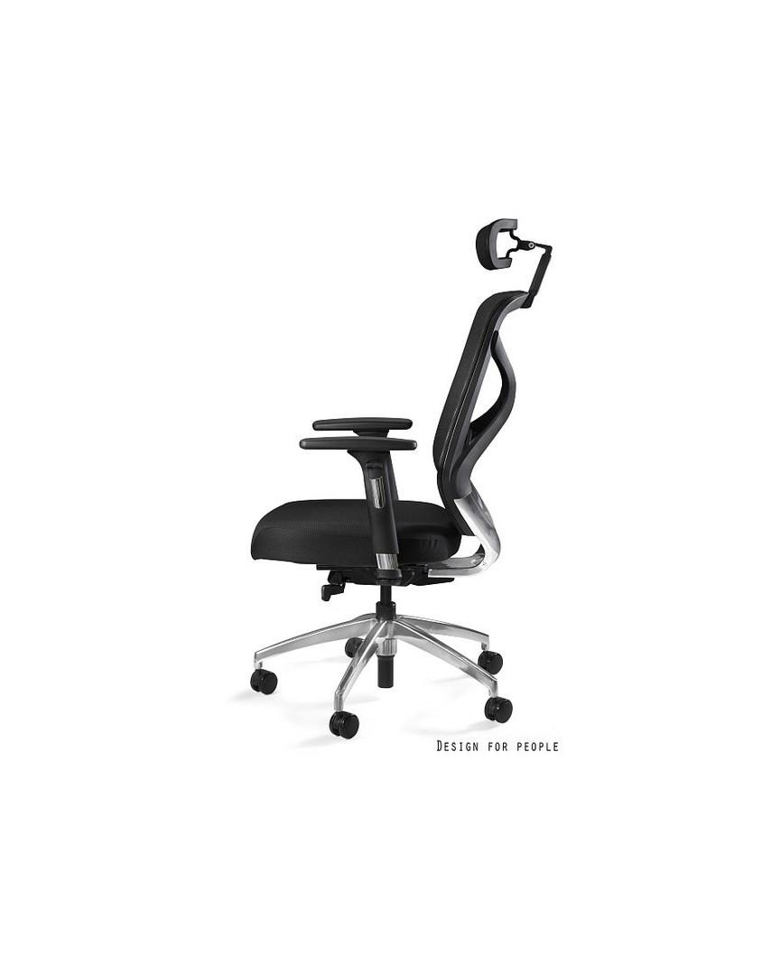 Fotel ergonomiczny HERO czarny / siatka NWH