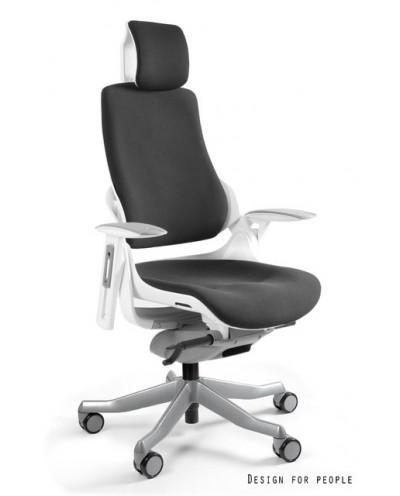 WAU - Fotel biurowy biały tkanina