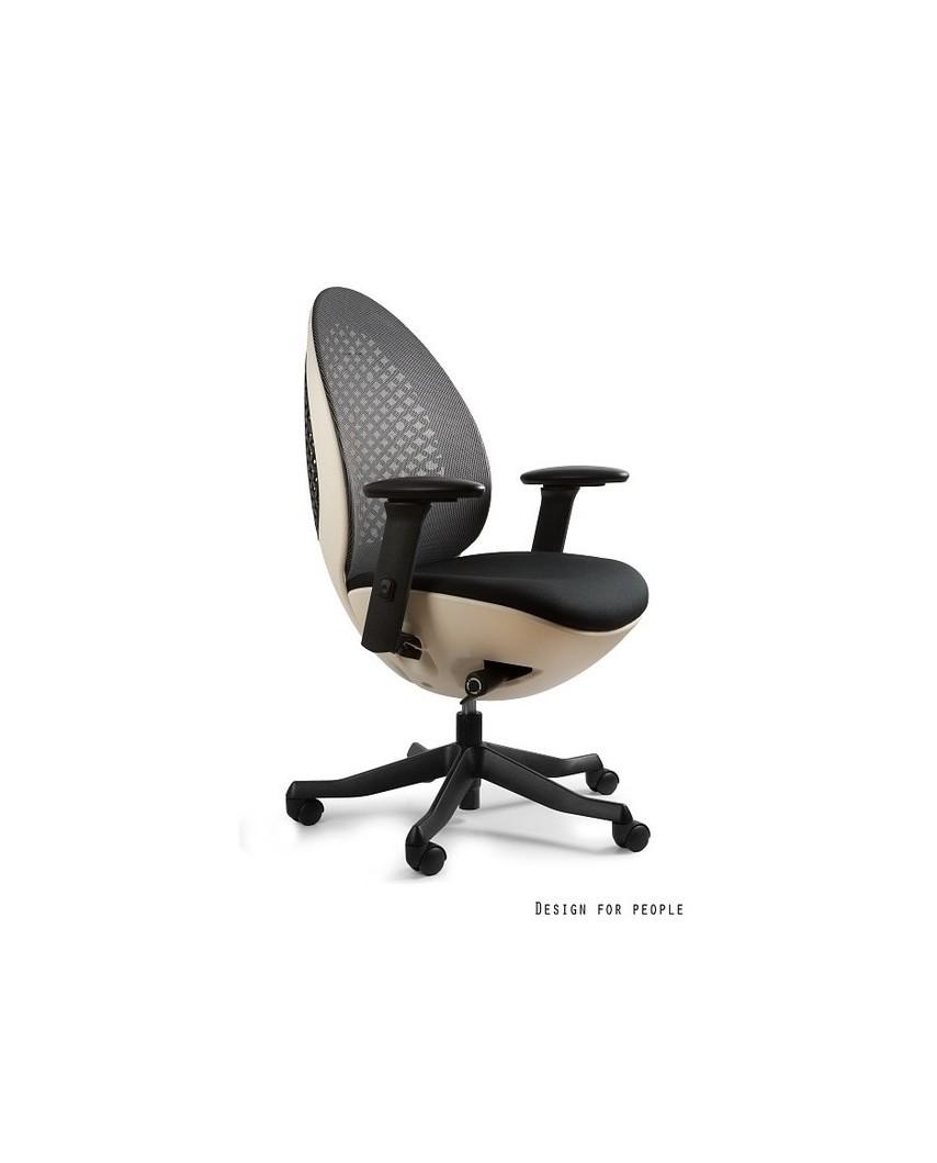 Ovo - białe/czarne - krzesło biurowe