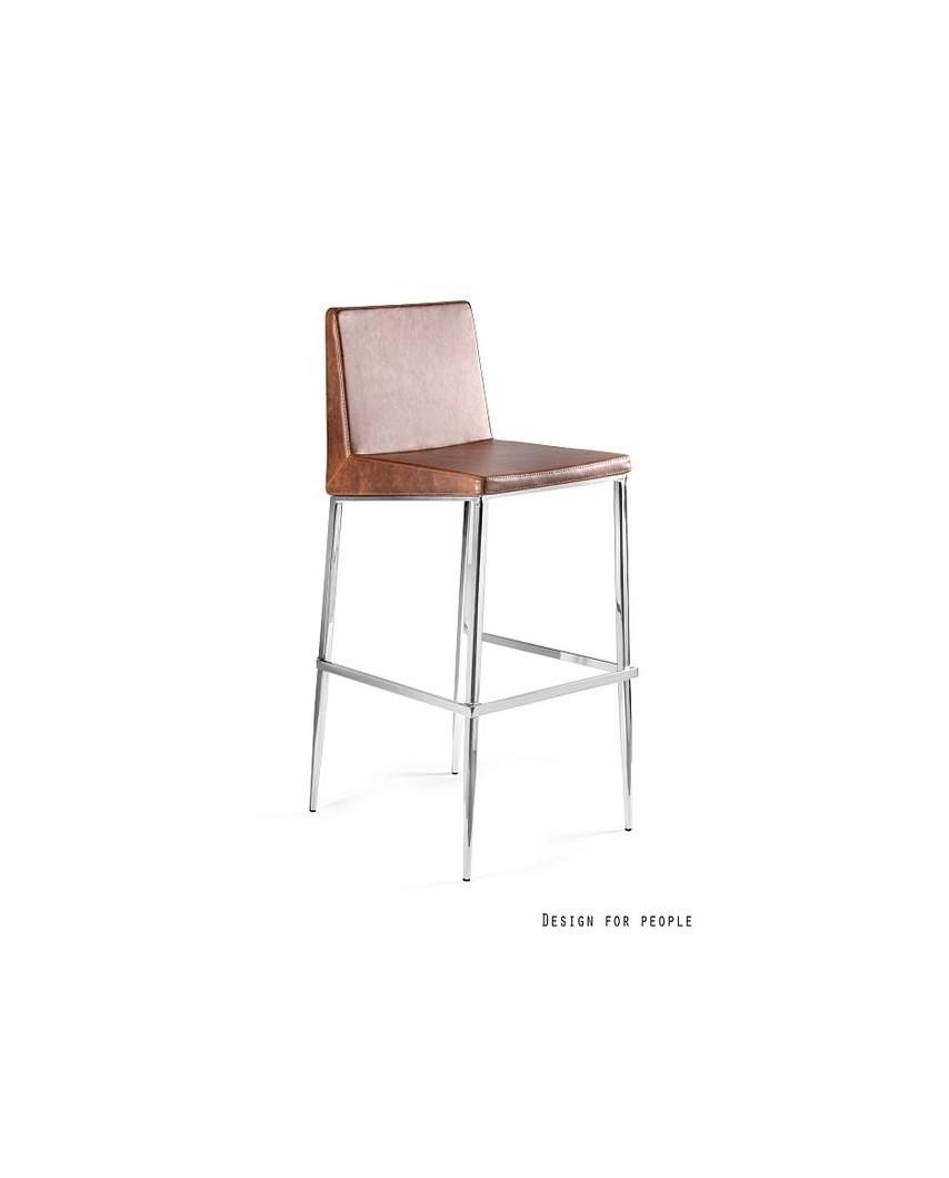 RENO - Krzesło brązowe