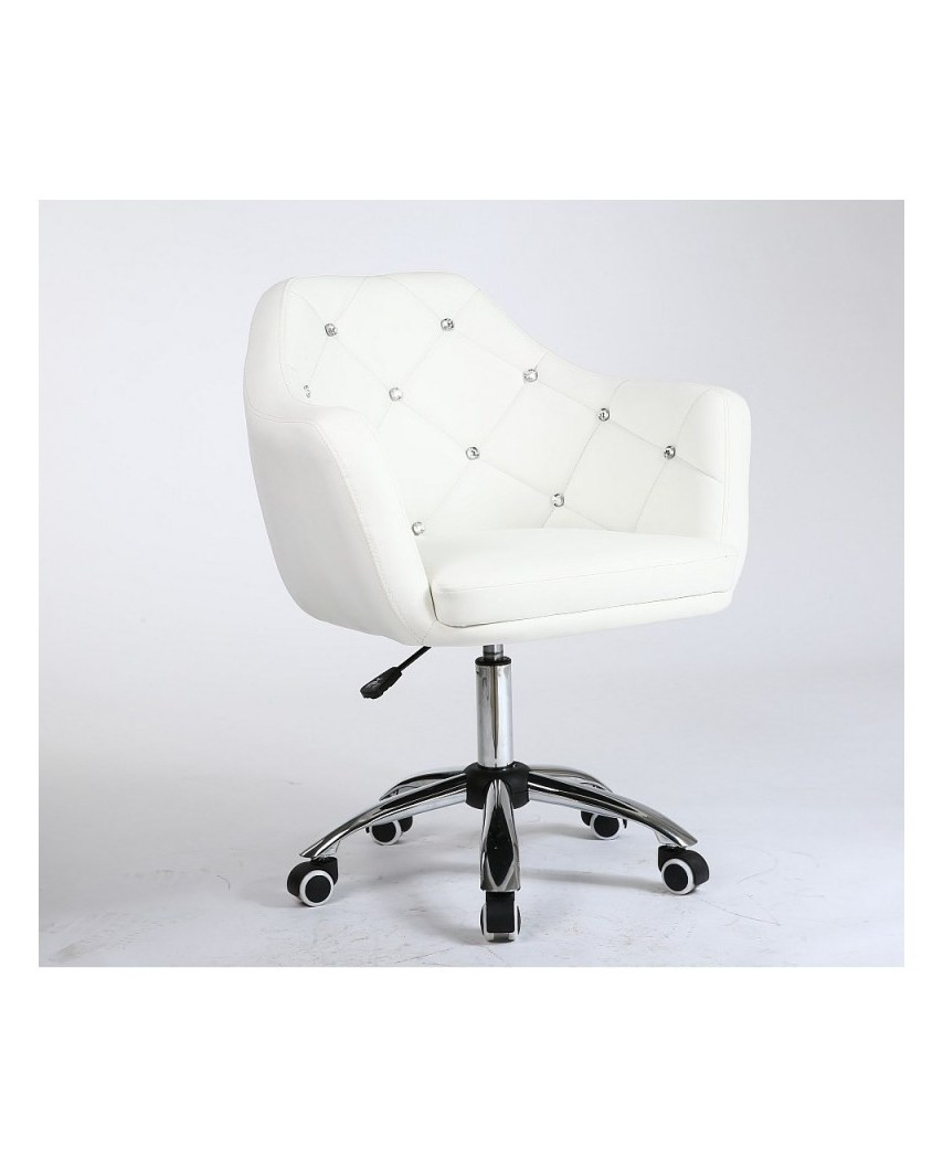 Blink - Fotel biały na kółkach