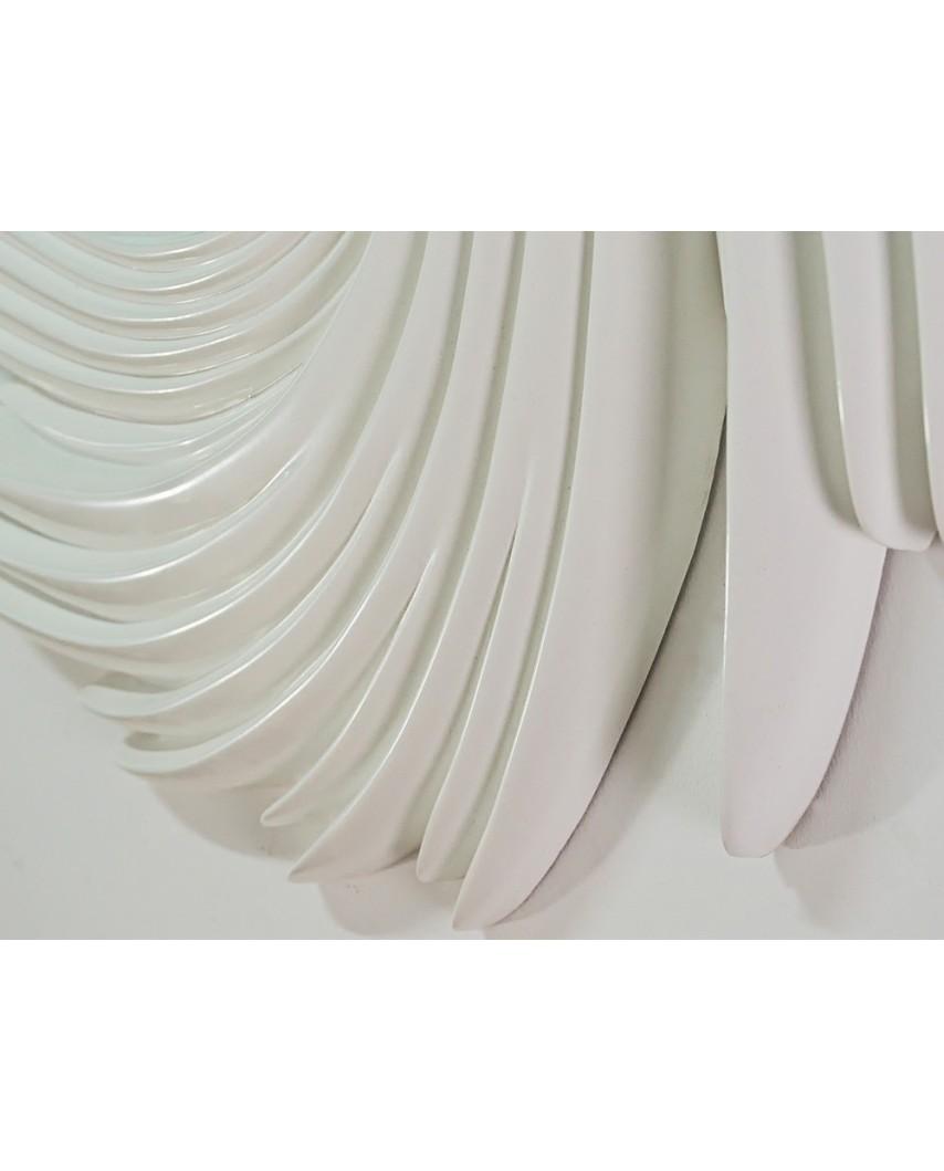 Lustro wiszące Wickers 95x95 biały