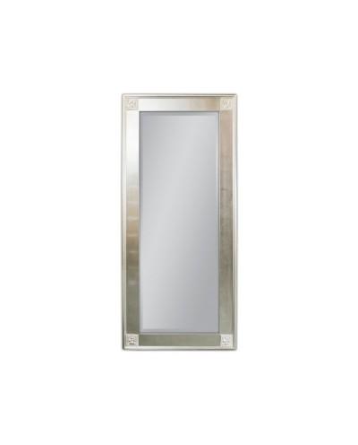 Lustro wiszące Wiktoria 80x180 srebrny