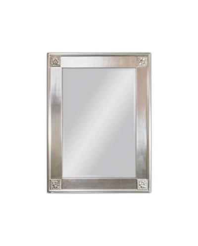 Lustro wiszące Wiktoria 85x114 srebrny