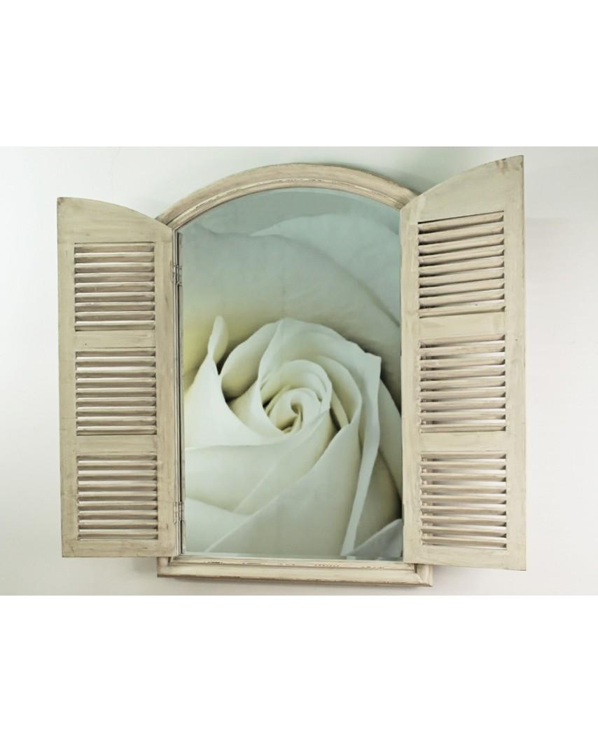 Lustro wiszące Window 80x120 szary przec