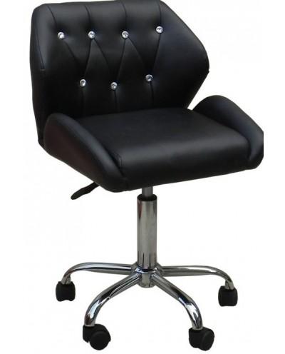ANTONY - krzesło kosmetyczne czarne