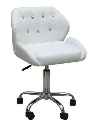 ANTONY - krzesło kosmetyczne białe