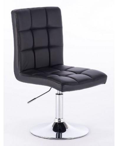 KRIS - hoker fryzjerski z podnóżkiem czarny