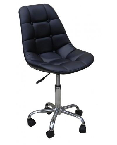 Pak - krzesło kosmetyczne na kółkach czarne