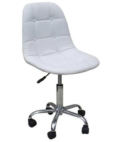Pak - Krzesło kosmetyczne na kółkach białe