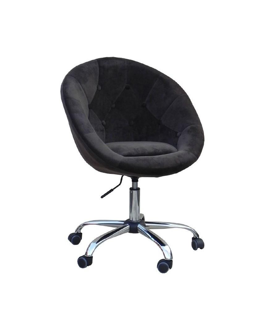 Bol - Krzesło kosmetyczne brąz welur