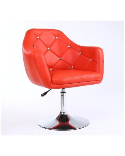 Blink - Fotel fryzjerski czerwony