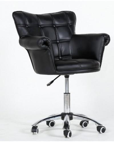 LORA - Fotel fryzjerski czarny