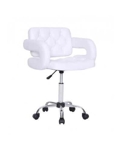 Surf - Fotel fryzjerski biały kółka