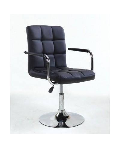 MIRACLE - fotel fryzjerski czarny