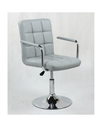 MIRACLE - fotel fryzjerski szary