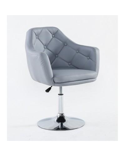 DERMEA - fotel fryzjerski szare