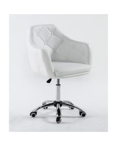 DERMEA - fotel fryzjerski biały