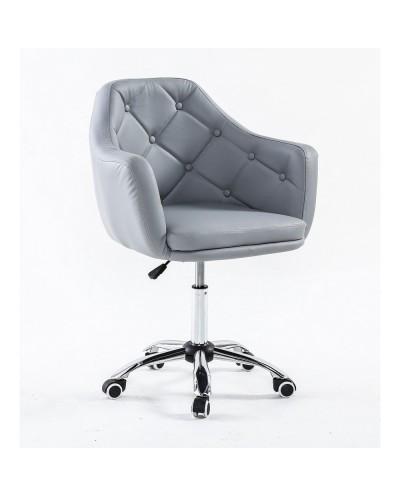 DERMEA - fotel fryzjerski szary