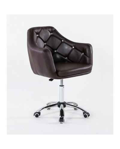 Blink - Fotel fryzjerski czekoladowy