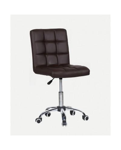 Kris - krzesło kosmetyczne z kółkami brązowe