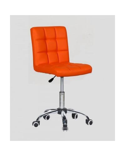 Kris - krzesło kosmetyczne z kółkami pomarańczowe